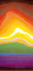 Volcano a serigraph (silk screen) print by Arthur Secunda